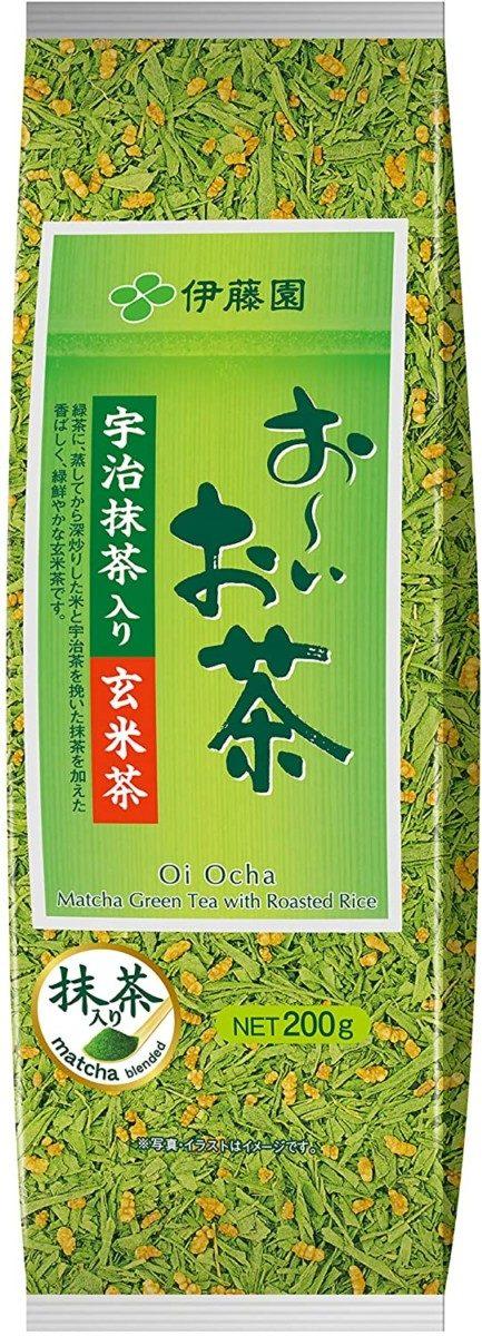 ITO EN Brown Rice Tea Genmaicha Зеленый чай Генмайтя листовой, 200 г