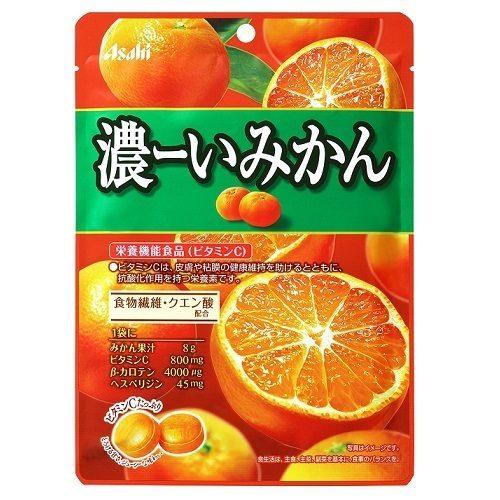 Asahi Леденцы Концентрированный мандарин, 84 г