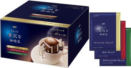 AGF Little Luxury Coffee Shop Ассорти 3 вида кофе в дрип пакетах, 40 штук