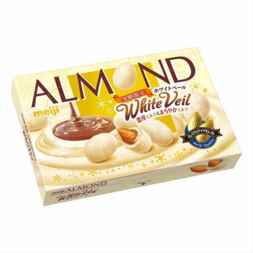 Meiji Almond White Veil Миндаль в белом шоколаде, 59 г