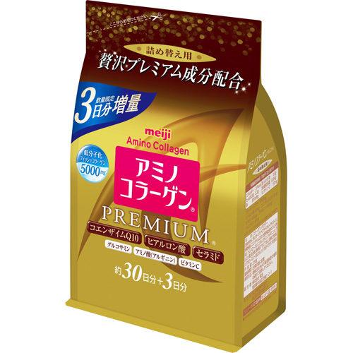 3 ДНЯ В ПОДАРОК! Meiji Amino Collagen Premium Амино коллаген Премиум, в порошке в мягкой упаковке, курс 33 дня