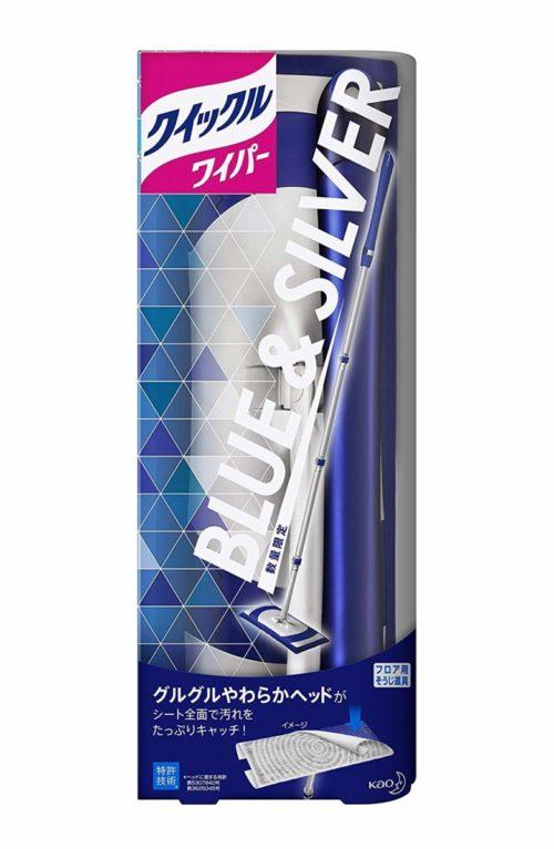 KAO Quickle Wiper BLUE&SILVER дизайн Универсальная швабра для мытья пола, потолка, стен