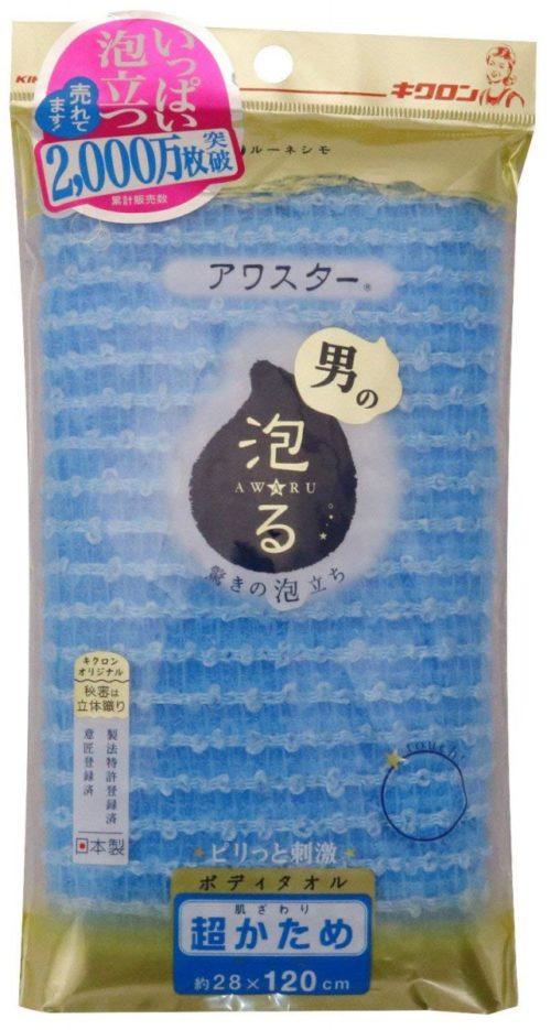 Kikulon Мочалка-полотенце для тела, мужская, супер жесткая