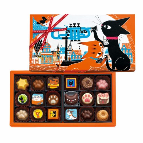Goncharoff Angege chaton noir Шоколадные конфеты с кошками, 18 шт.