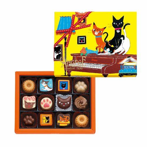 Goncharoff Angege chaton noir Шоколадные конфеты с кошками, 12 шт.