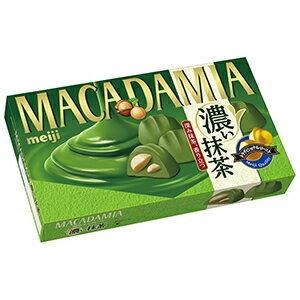 Meiji Macadamia Koi Matcha Орех макадамия в шоколаде с насыщенным зеленым чаем, 9 шт.
