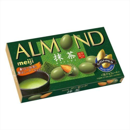 Meiji Almond Chocolate Matcha Миндаль в шоколаде матча, 79 г