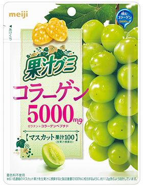 Meiji Fruit Juice Gummy Collagen Виноградный мармелад с коллагеном, 68 г