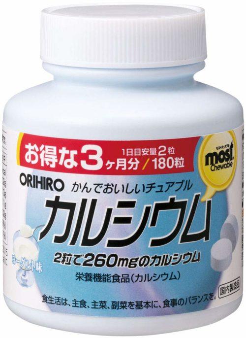 ORIHIRO MOST Кальций (жевательные таблетки со вкусом йогурта), 180 табл., курс 90 дней
