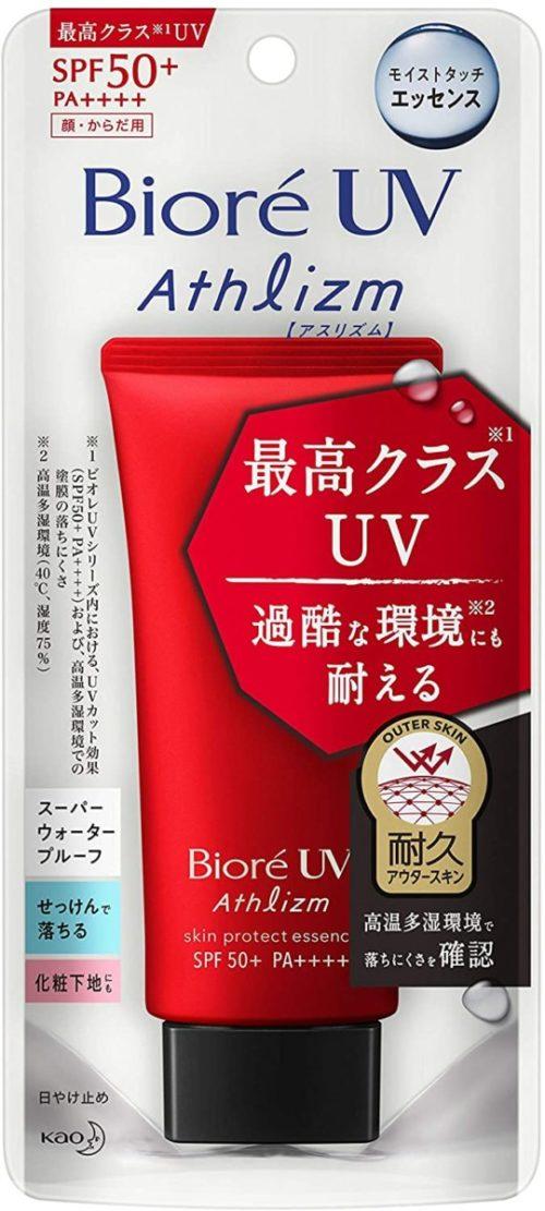 KAO Biore UV Athlizm Skin Protect Essence Длительная солнцезащитная эссенция для лица и тела, 70 г