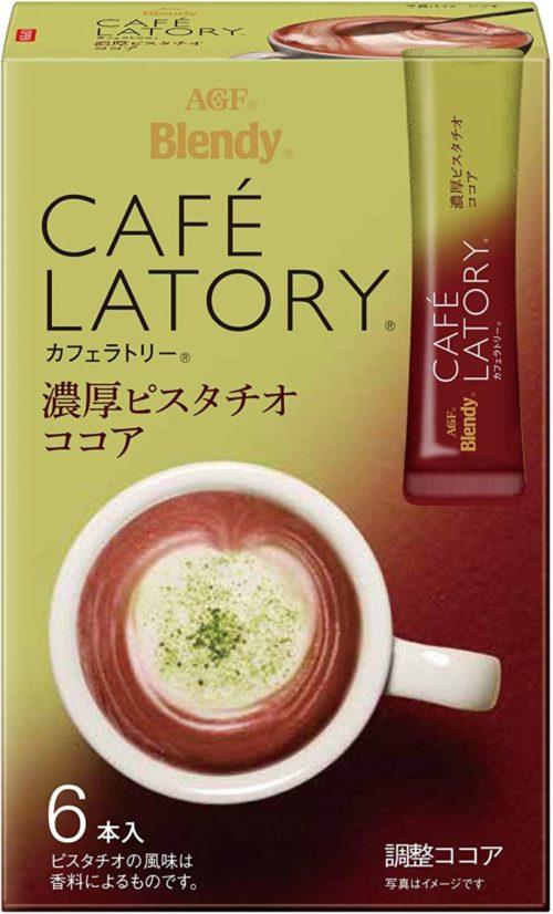 AGF Blendy CAFE LATORY Насыщенное фисташковое какао в стиках, 6 штук