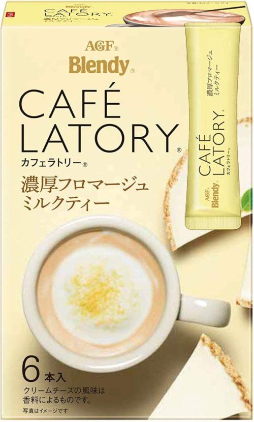 AGF Blendy CAFE LATORY Молочный чай со вкусом сливочного сыра в стиках, 6 штук