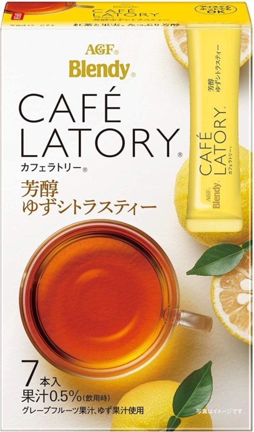 AGF Blendy CAFE LATORY Цитрусовый чай с юдзу в стиках, 7 штук