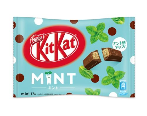 Kit Kat mini Mint Кит кат Мята, 12 шт.